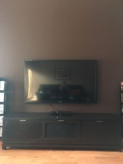 Real wood storage/entertainment center