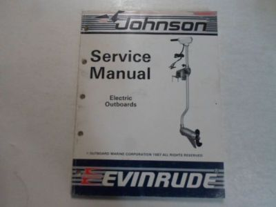 Purchase 1988 Johnson Evinrude Electric Outboards Service Repair Shop Manual STAINED OEM motorcycle in Sterling Heights, Michigan, United States, for US $16.95