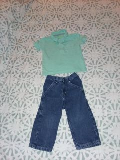 Boy's size 2t Oshkosh shirt and wrangler jeans like new excellent condition