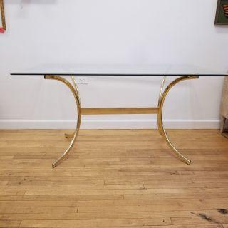 Mid Century Milo Baughman Style Dining Table