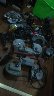 Assorted electric tools