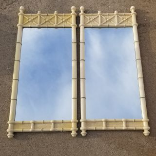 PAIR Drexel Kensington Faux Bamboo Mirrors