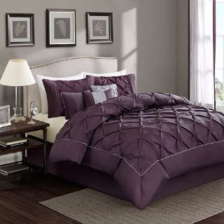 NEW Purple Plum luxurious bedding collection 7 piece set, LOVELY!! King size! $200 value