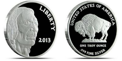 2013 One (1) Ounce Silver Bullion Coins