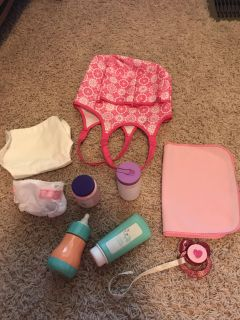 Baby diaper bag and diapering accessories
