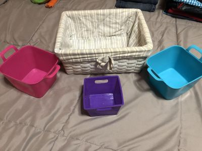 Containers and basket