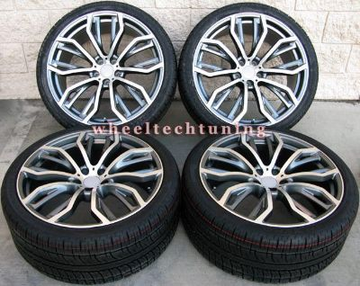 """Purchase 22"""" BMW 5-SPOKE STYLE X5 3.0, 4.4, 4.8 STAGGERED WHEELS TIRES - BMW X5 X6 RIMS motorcycle in Glendale, California, US, for US $2,100.00"""
