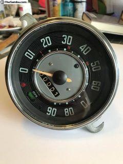 Refurbished 9/65 Bug speedo