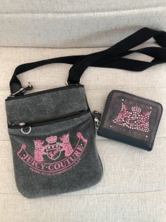 Like new Juicy Couture crossbody purse and matching wallet.