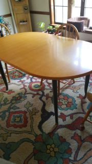 Oblong dining table and 4 chairs
