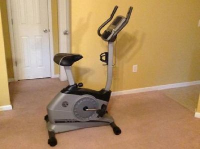 $150 Gold's Gym Stationary Exercise Bike w/ iPod Port -