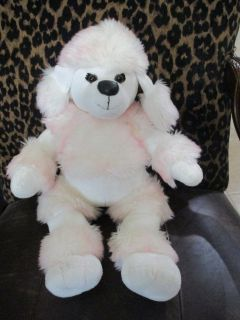 Build a Bear French Poodle White and Pink Stuffed Animal Toy