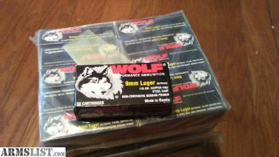 For Sale: 2000 rounds 9mm