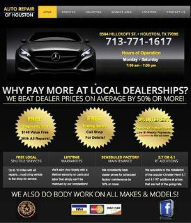 payments on all kind the repairs with warranty on parts  labor -
