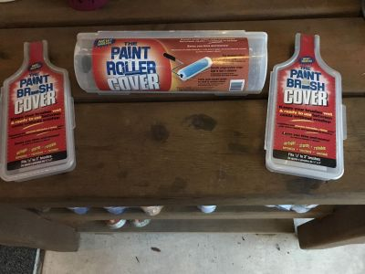 Paint Roller & Brush Covers, ASKING $15 for All
