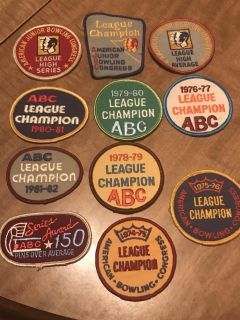 Vintage Bowling Patches