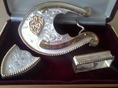 $200 CFD belt buckle w/assesories, collectible