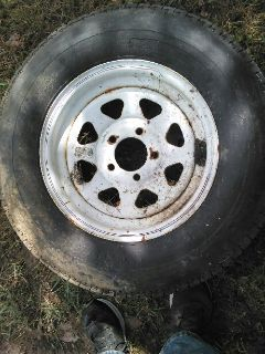 New tire and wheel for car dolly or trailer