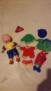 Caillou Doll with extra clothes