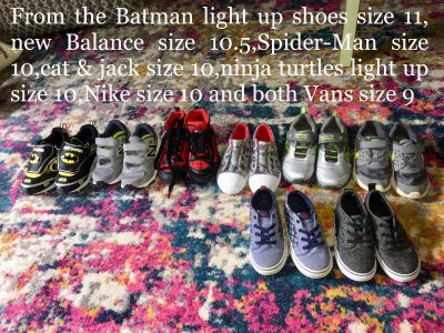 Shoes for boys from 9 to 11 preschool age