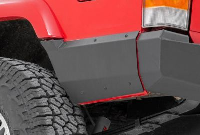 JEEP REAR LOWER QUARTER PANEL ARMOR FOR FACTORY FLARE (97-01 CHEROKEE XJ)