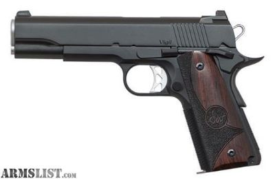 For Sale: CZ Dan Wesson 01833 1911 Vigil Single 9mm Luger 5 9+1 Wood Grip Black Stainless Steel free shipping