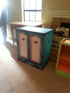 turquoise antique cabinetstereo