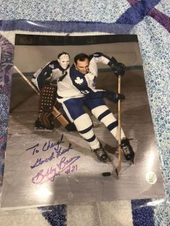Signed Maple Leafs photo of Bobby Brown