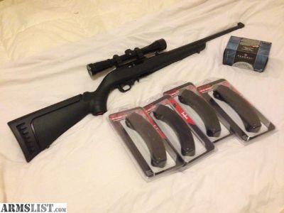 For Sale: Ruger 10/22, Burris Scope, 4 BX25 mags