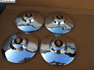 Porsche 356 62-63 Super 90 NOS OEM Hubcaps