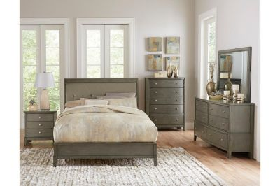 NEW! QUALITY ~ UPSCALE GREY FINISHED QUEEN BED SET