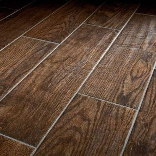 """6"""" x 24"""" Glazed Porcelain Floor and Wall Tile - 100 Square Feet"""