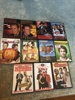 Comedy DVDs. All 11 for $20 or $2 each