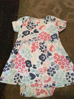 Carters 9m flower print dress w/onesie - ppu (near old chemstrand & 29) or PU @ the Marcus Pointe Thrift Store (on W st)