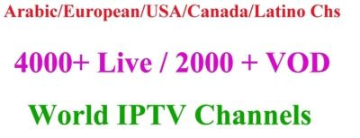 IPTV 1 Year Subscription all Languages available.