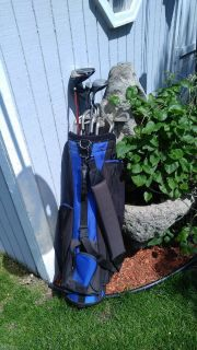Full set left handed golf clubs with bag