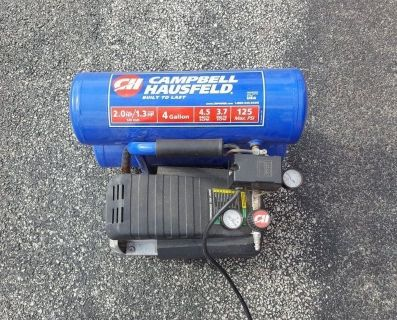 Campbell Hausfeld 2 HP 3.7 CFM Twin Stack Portable Air Compressor