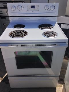 Whirlpool White Electric Stove
