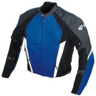 Buy New Joe Rocket Blue Pro Street Leather Jacket Size 50 motorcycle in Ashton, Illinois, US, for US $328.49