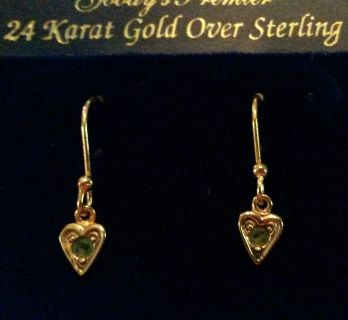 Gold over sterling fashion earrings