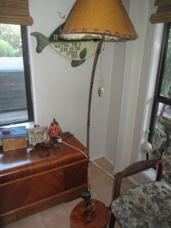 Fishing Rod floor lamp and Fishing sign Man Cave Fathers day