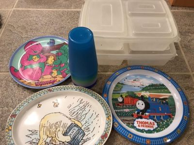 Kids plates and cups