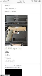 Want To Buy: WTB Sig 1911 Scorpion carry