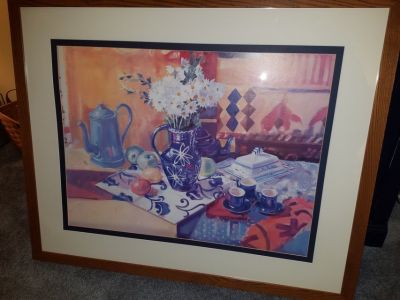 Large Picture, Double matted, wood frame