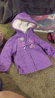 Healthtex zip up thick hoody size 3t