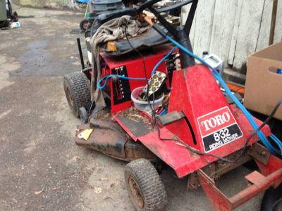 toro riding lawnmower