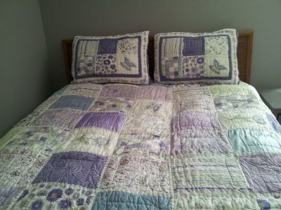 Teen Pottery Barn comforter and shams