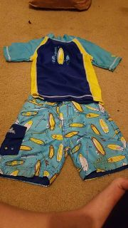 Boys Swimsuit with shirt.