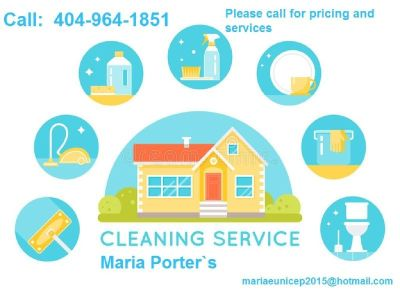 Cleaning House  Apartment office (404)964-1851