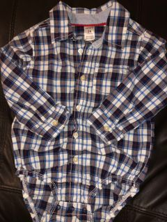 Carter s Plaid Shirt Onesie. Nice Condition. Size 24 Months